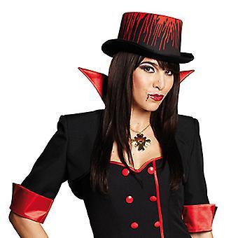 Cylindra krwi OK. 11cm wysoki kapelusz akcesoria karnawałowe Halloween