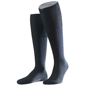 Aeroporto de Falke altura do joelho meias - Marinha escura