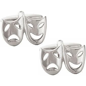 David Van Hagen teatralsk maske mansjettknapper - sølv