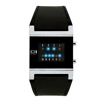 THE ONE Watch Men's Wristwatch Kerala Trance KT102B1 Binary Watch