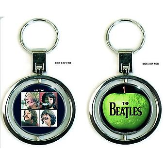 The Beatles Keyring Keychain Let it Be new Official metal spinner