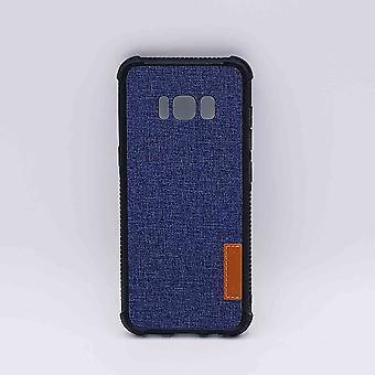 Für Samsung Galaxy S8-Beutel-Jeans Look-blau