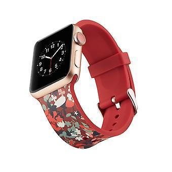 Siliconen horlogebandje voor Apple Watch 4 44mm, 3/2/1 42mm-levendig
