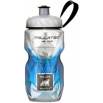Polar Flasche Sport isoliert 12 oz Wasserflasche - blau Fade