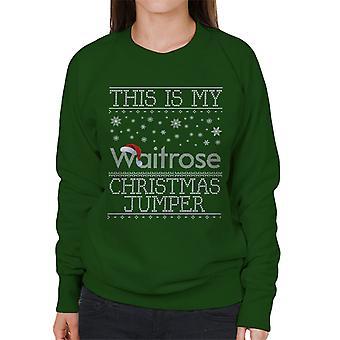 Tämä on minun Waitrose joulu Jumper neulo kuvio Naisten huppari