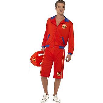 Baywatch Beach Men's Lifeguard Costume, Chest 42