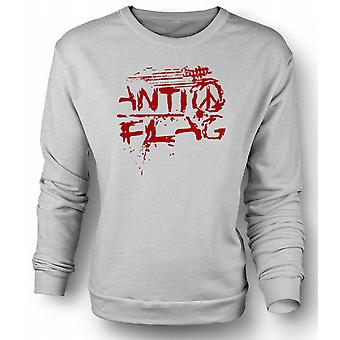 Mens Sweatshirt Anti - Flag - US - Punk Rock Band - Anarchy