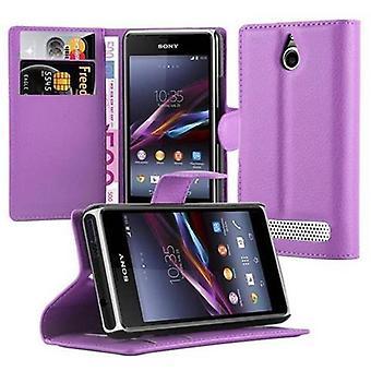 Cadorabo Case voor Sony Xperia E1 gevaldekking-telefoon geval met magnetische sluiting, stand functie en kaart Case compartiment-Case cover geval geval geval boek vouwen stijl