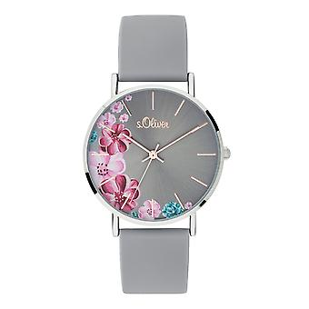 s.Oliver ladies watch wrist watch silicone SO-3707-PQ