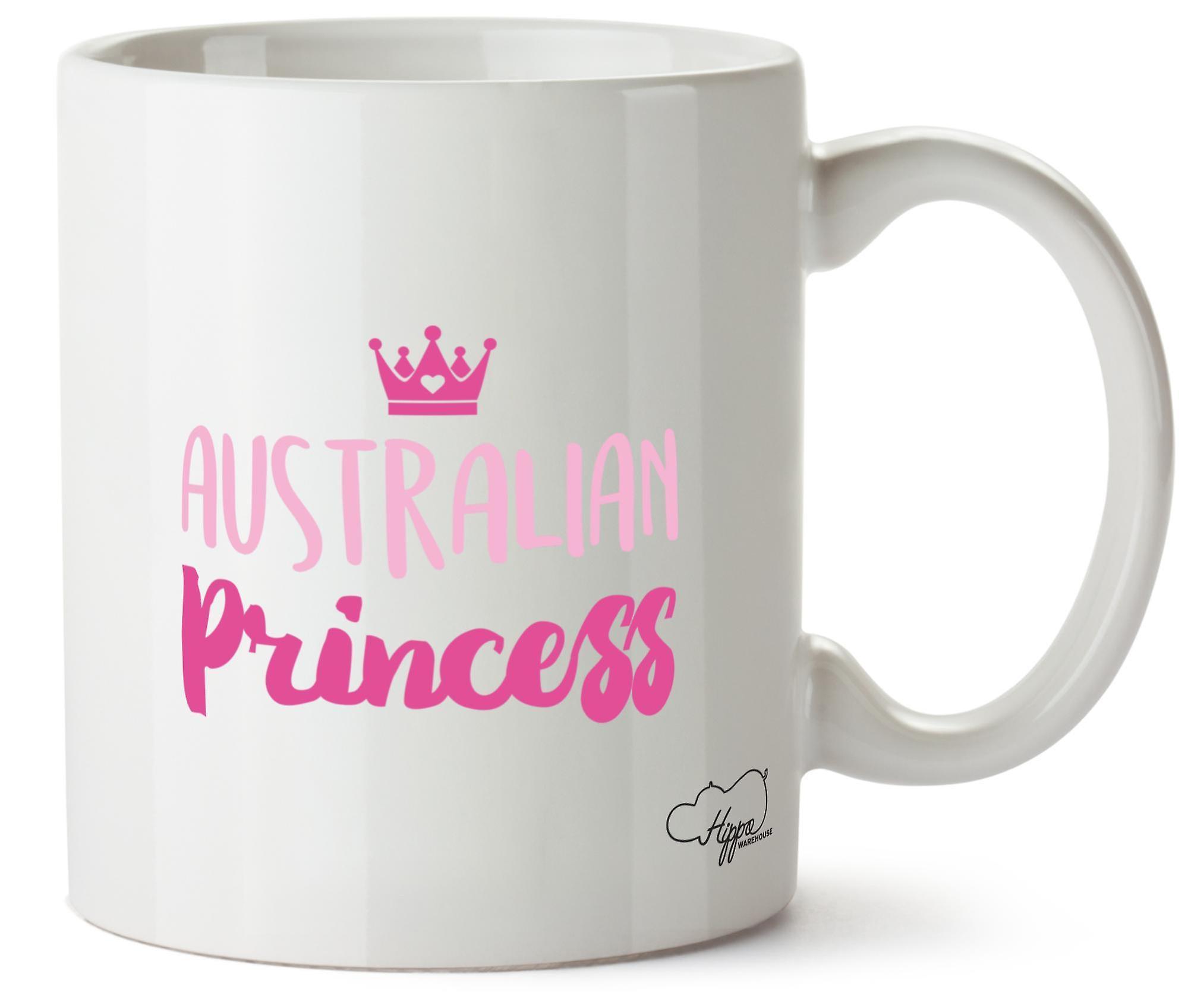 Hippowarehouse австралийских принцесса напечатаны Кубка керамическая кружка 10oz