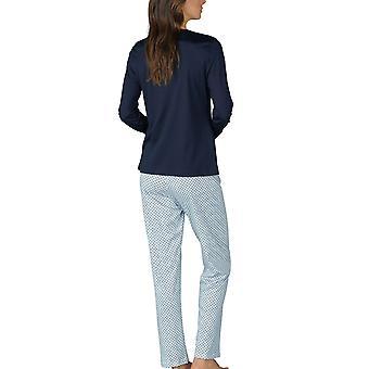 Mey kvinnor 14953-408 kvinnors Sonja Night Blå Prickig bomull pyjamas Set