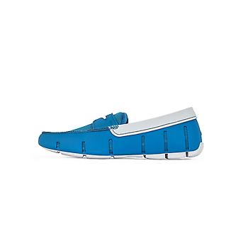 Swims Seaport Blue & Alloy Penny Loafer
