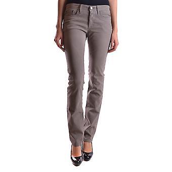 Neil Barrett Ezbc058016 Women's Brown Cotton Jeans