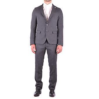 Manuel Ritz Ezbc128019 Men's Grey Polyester Suit