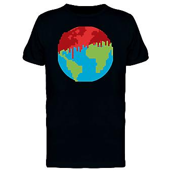 Earth Planet Melting Doodle Tee Men's -Image by Shutterstock