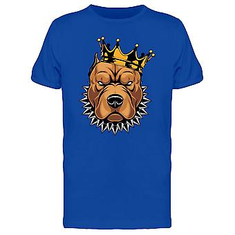 Pit Bull Head With A Crown Tee Men's -Image by Shutterstock
