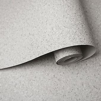 Cork Texture Wallpaper Embossed Plain Feature Wall Grey & Silver Holden Decor