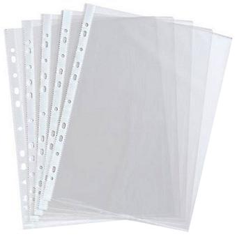 Just Stationery A4 Clear Plastic Punched Pockets (Pack Of 10)