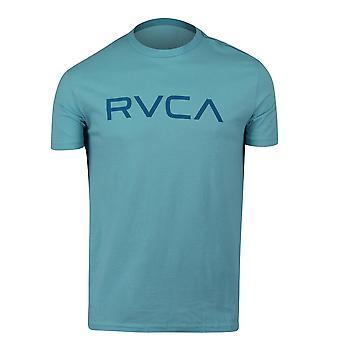 RVCA Mens Big RVCA Mens Vintage Wash T-Shirt - Maui Blue