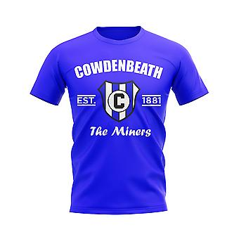 Cowdenbeath stabilito calcio t-shirt (Blue)