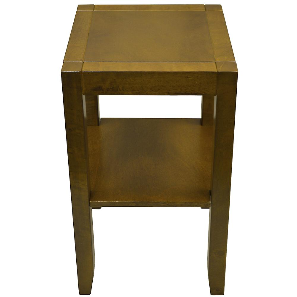 Anywhere - Solid Wood End / Telephone / Bedside / Side Table - Walnut Effect