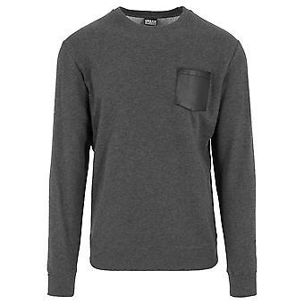 Urban Classics Men's Sweatshirt Contrast Pocket Crewneck