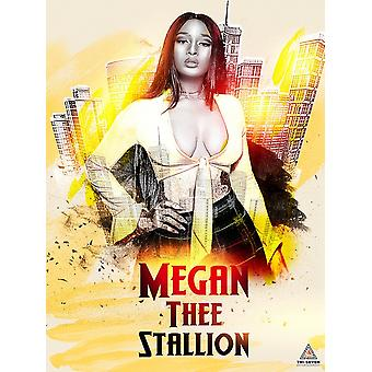 Megan Thee Stallion Poster Wall Art Print (18x24)