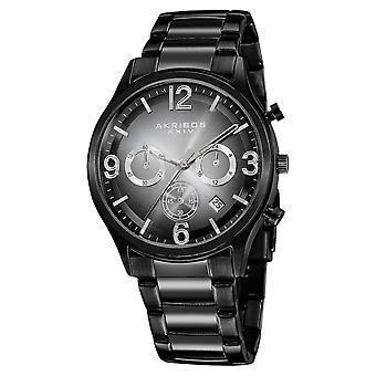 Akribos XXIV chronographe mat cadran bracelet montre AK607BLK