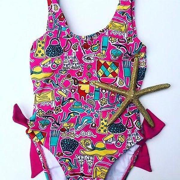 Little Octopus, Toddler's  Busy Lady Swimsuit