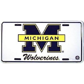 Michigan Wolverines NCAA plaque d'immatriculation