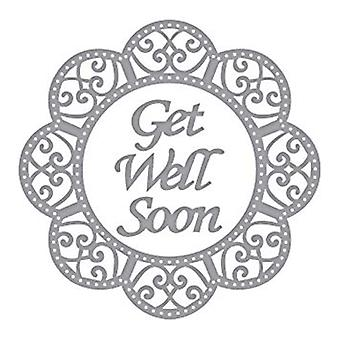 Spellbinders Designer Series Get Well Soon Scalloped Circle Die (S4-831)