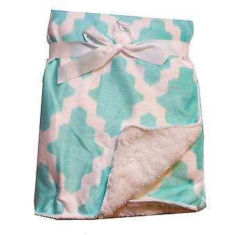 Geometric Mink Sherpa Fleece Lined Baby Blanket