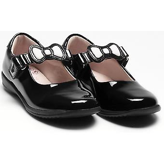 Lelli Kelly Colourissima Bow Changeable Strap Black Patent School Shoes