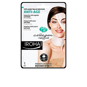 Iroha 100% Cotton Face & Neck Mask Collagen-antiage 1 Use For Women