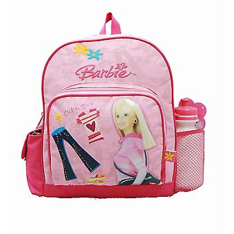 Small Backpack - Barbie - w/ Water Bottle - Pink Jeans New School Bag 18453