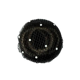 ShowQuest Showquest Pearls Large Mesh Bun Net - Noir