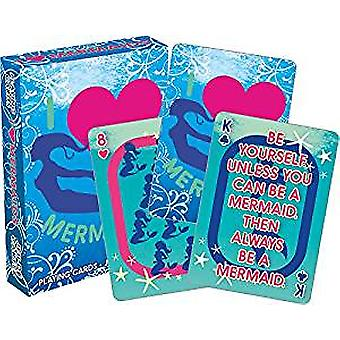Playing Card - NMR - I Heart Mermaids 52520