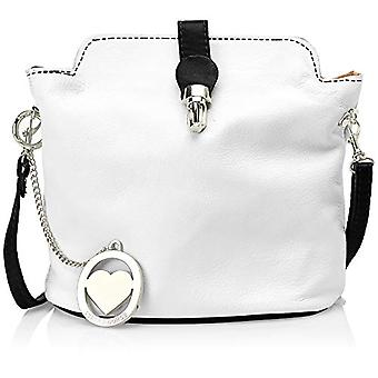Chicca Bags Cbc3322tar Multicolored Women's Shoulder Bag (White/Black) 10x20x21 cm (W x H x L)