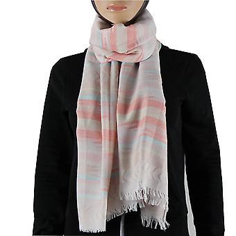 Cachecol/xale/xaile 100% pashmina cor de rosa multi