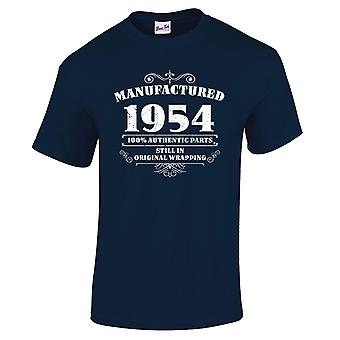Men's 65th Birthday T-Shirt Manufactured 1954 Novelty Gifts For Him