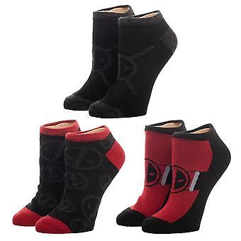 Marvel Deadpool 3 Pack Women's Ankle Socks