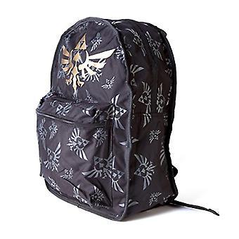 Zelda FEDBP0VFUZSS Wing Crest Reversible Logo Backpack - Black/Green