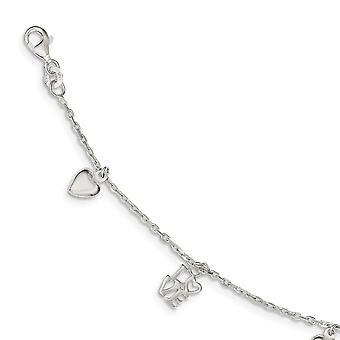925 Sterling Silver Polished Fancy Lobster Closure Bracelet - 3.2 Grams - 7.5 Inch