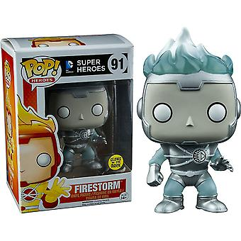 DC Firestorm White Lantern Glow US Exclusive Pop! vinile m