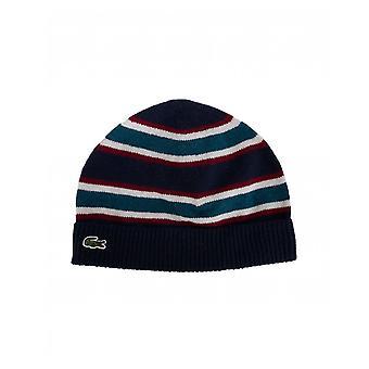 Lacoste gestreifte Logo Mütze Hut