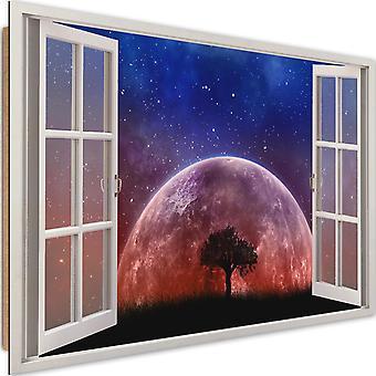 Panneau Déco, fenêtre - la lune