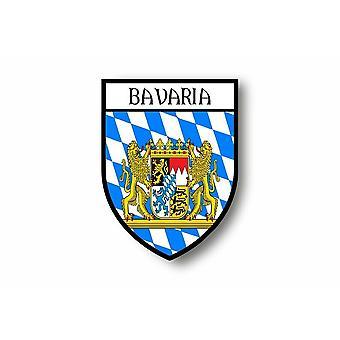 Autocollant Sticker Voiture Moto Blason Ville Drapeau Baviere Bavaria Allemagne
