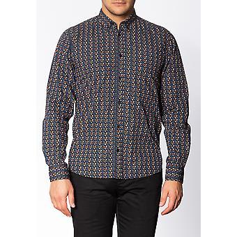 Merc MILDFORD, Men's Long Sleeve Cotton Shirt with Floral Print