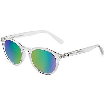 Dirty Dog Riddle Sunglasses - Crystal Grey/Green