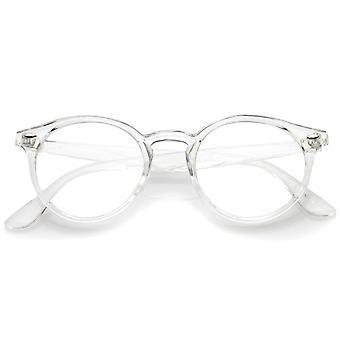 Classico corno traslucido cerchiato prismature P3 turno Eyeglasses 49mm